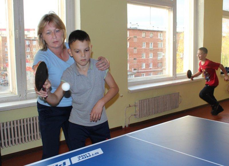В котовской средней школе №3 открылась секция настольного тенниса