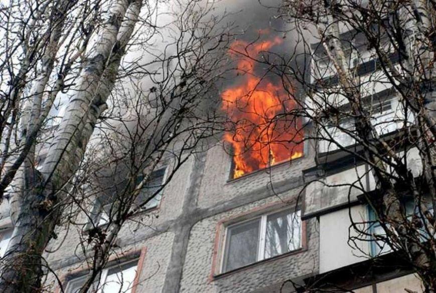 При пожаре в котовской многоэтажке пострадал человек