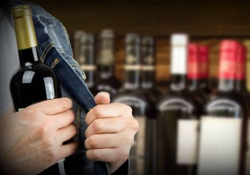 Котовчанин попытался украсть бутылку спиртного