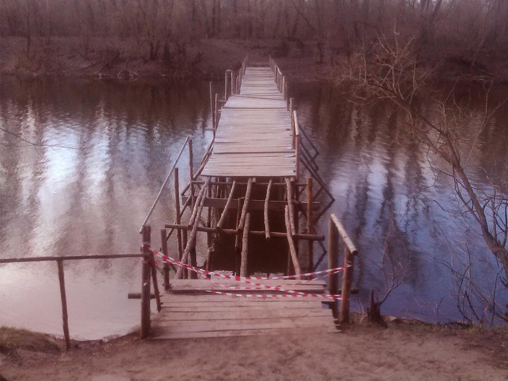 Котовчане собираются своими силами восстановить мост, разрушенный по приказу городских властей