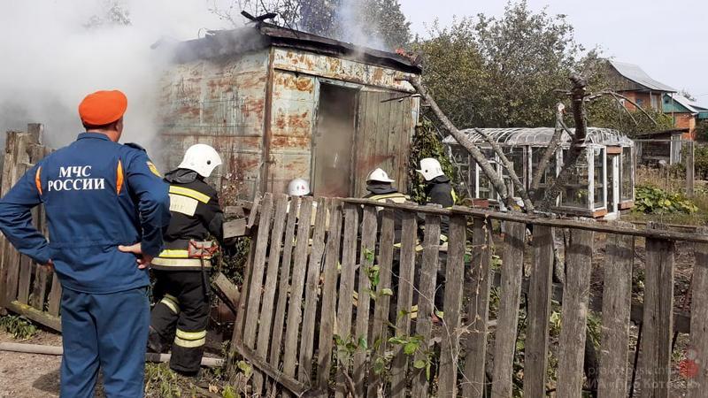 В Котовске в районе дач произошёл пожар